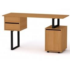 Стол письменный Компанит Лофт-4 ольха